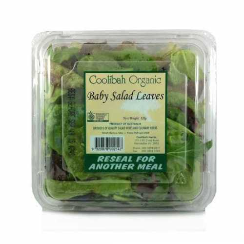 Organic Salad Leaf Mix – 120g Box
