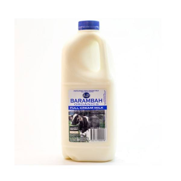 Organic Milk, Full Cream (Barambah) – 2L