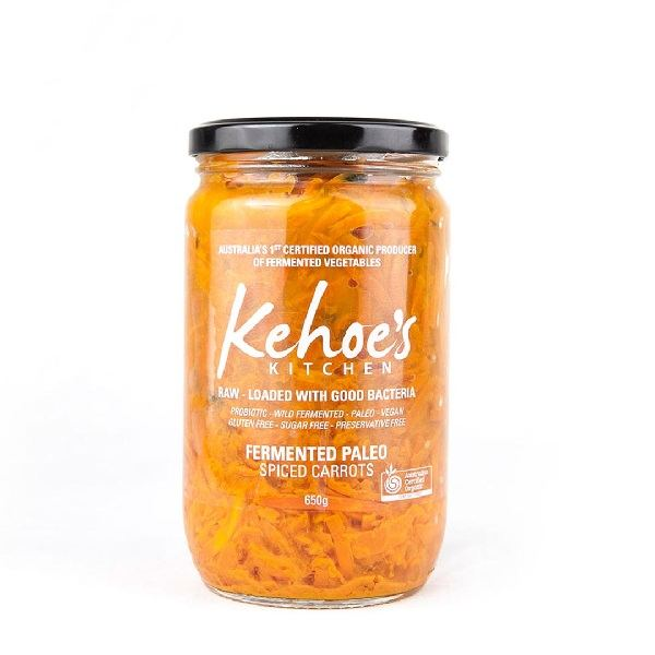 Organic Kraut, Spiced Carrot (Kehoe's Kitchen) – 410g Jar