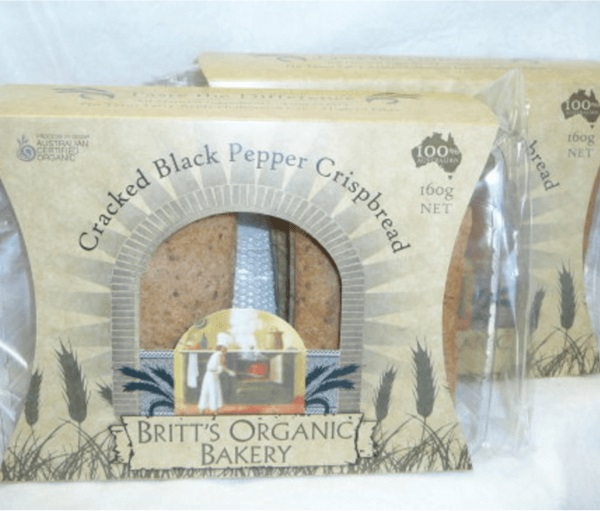 Britts Organic Crisp Bread, Black Pepper – 160g