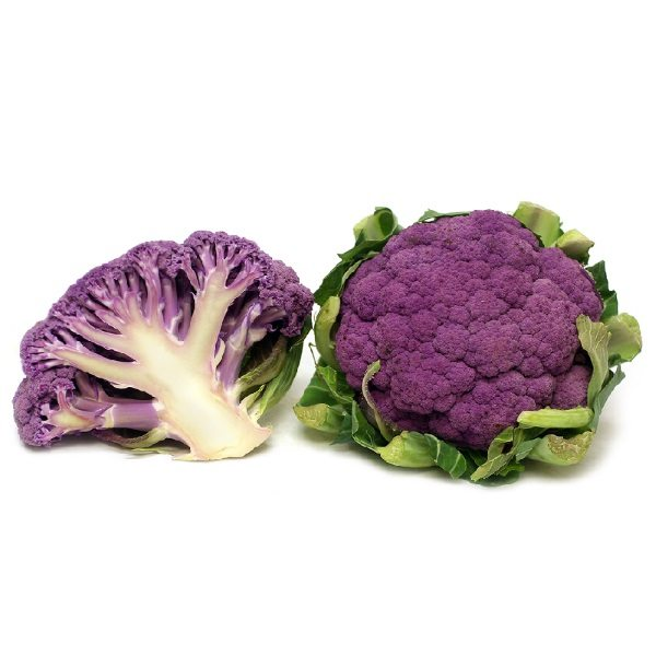 Organic Cauliflower, Mixed Colour – Half