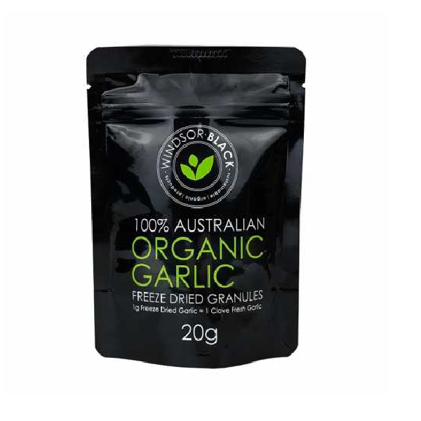 Organic Garlic, Freeze Dried Granules – 20g